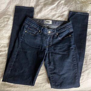Paige Dark Denim Skyline Skinny Jeans